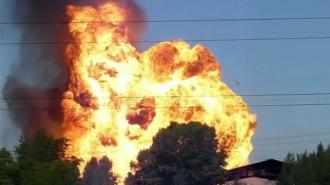 В Петербурге загорелась АЗС. Два человека погибли
