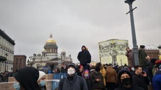 Суд прекратил дело одного из задержанных на акции протеста 31 января в Петербурге