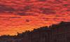 Необычный закат над зимним Санкт-Петербургом поразил гостей и жителей города