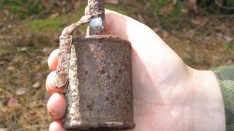 Во Фрунзенском районе найдена мина времен войны