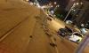 Пьяный таксист снес светофор и ограждения на перекрестке Котина и Маршала Казакова