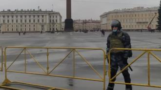 В Петербурге вновь перекрывали Дворцовую площадь