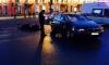 Появились страшные фото с места столкновения мотоцикла и BMW на Невском