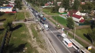 На Лиговском путепроводе переключили движение транспорта на новый участок