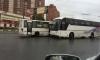 В Петербурге маршрутка протаранила автобус с детьми