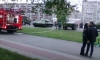 Бесстрашная парочка сфотографировалась на фоне пожара в челябинском Саду Победы