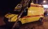Скорая помощь столкнулась с BMW и сбила светофор на проспекте Ветеранов