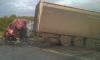 Два грузовика столкнулись лоб в лоб на трассе Омск — Новосибирск, погибли два человека
