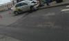 Такси врезалось в столб на Обводном канале