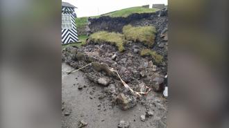 У входа в крепость Корела обрушилась часть бастиона