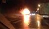 Переполненный мусоровоз и легковушка сгорели на Октябрьской набережной после столкновения