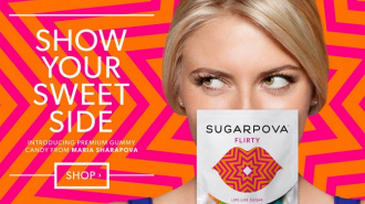 Шарапова меняет фамилию на название своих конфет Shugarpova