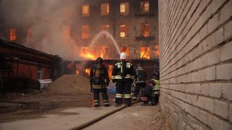 Семье погибшего при тушении Невской мануфактуры пожарного выплатят 1 млн рублей