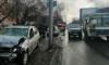 В Томске иномарка влетела в пешеходов на тротуаре, погибла женщина