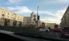На Лиговском проспекте ДТП: серый автомобиль столкнулся с пожарной машиной