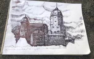 Выборгский бездомный художник Борис уехал на реабилитацию в центр недалеко от Приморска