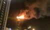 Ночной пожар в небоскребе переполошил жителей Астаны