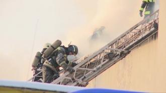 Из горящей квартиры на Софийской улице эвакуировали двух людей