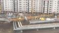 В Саратове упал башенный кран