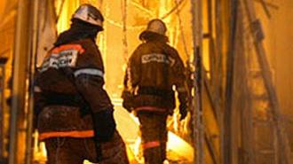 Сгорел заброшенный штаб в Красной горке