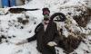 Петербуржцы установили на золоотвале Невского района пугало в противогазе