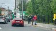 На Малом проспекте В.О. помяли спорткар Subaru BRZ