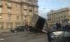 """Массовая авария на Малоохтинском проспекте: """"Газель"""" развалилась"""