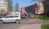 Мотоциклист врезался в Lada Largus на Шелгунова