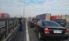 """Авария c """"перевертышем"""" на КАДе у Вантового моста создала большую пробку"""