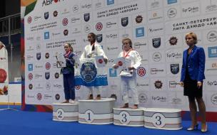 Жительница Выборгского района стала бронзовым призёром первого этапа Лиги Авроры по дзюдо