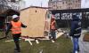 На Новгородской улице снесли летнее кафе и торговые домики