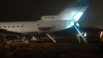 """Самолет выкатился за пределы взлетно-посадочной полосы в """"Пулково"""""""