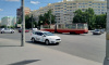 Трамвай сошел с рельсов на юго-западе Петербурга