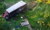 На Рыбацком проспекте грузовой автомобиль упал с моста