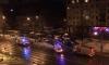 Иномарка протаранила столб на Ланском шоссе: от удара машина задымилась