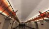 """На станции метро """"Проспект Славы"""" вместо витражей установили стёкла с плёнкой-самоклейкой"""