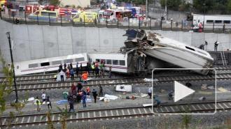 Крушение поезда в Испании: 77 погибших