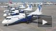 Самолет ATR-42 сел в Красноярске с горящим двигателем