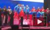 Российские биатлонисты сами спели гимн РФ с Губерниевым