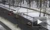 В Красном Селе авария двух автоледи попала на камеру видеорегистратора