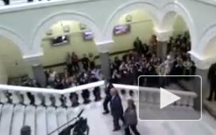 Студенты и сотрудники МГУ пожаловались ректору ВУЗа на визит Медведева