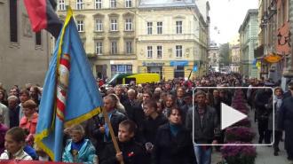 """Новости Украины: во Львове прошел """"марш славы"""" военных преступников"""
