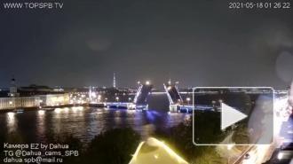 Видео: ночью в Петербурге молния ударила в телебашню