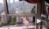 На видео попало спасение непутевого вора с карниза 22-го этажа