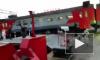 Сход электрички в Петербурге попал на видеорегистратор