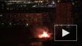 На Русановской улице горит здание рядом с избирательным ...