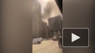 В северной части Москвы загорелась свалка