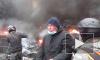 На улице Грушевского в Киеве горят дома