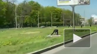 Опубликованы кадры уничтожения баннеров ко Дню Победы на Украине