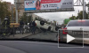 Видео: После массового ДТП на Пискаревском перевернулись две машины
